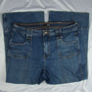 ANA Crop Capri Jeans Frayed Back Pockets Size 12